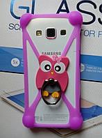 """Универсальный 3D бампер для телефонов от 3"""" до 5.5"""" дюймов с кольцом"""