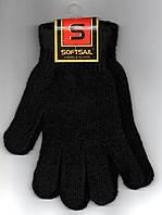 Перчатки мужские велюр SOFTSAIL чёрные   ПМЗ-8