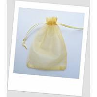 Мешочек из органзы 18 см х 13 см голд.