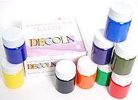 """Набор акриловых красок для росписи шелка """"DECOLA"""", 9 цветов, 50 мл."""