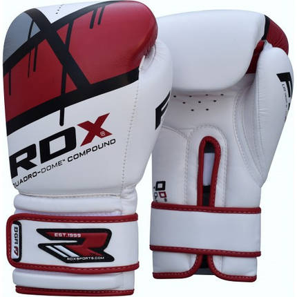 Боксерские перчатки RDX Rex Leather Red 14 ун., фото 2