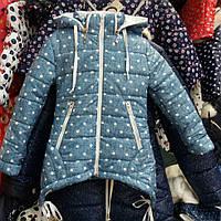 Детская куртка парка для девочки на флисе и синтепоне