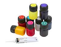 Набор витражных красок на водной основе, 9 цветов, 20 мл., Decola