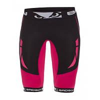 Компрессионные шорты женские Bad Boy Compression Shorts Black/Pink XL