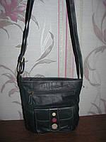 Натуральная кожаная сумка на длинной ручке