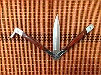 Нож бабочка балисонг Тотем (рукоять вставки из дерева), фото 1