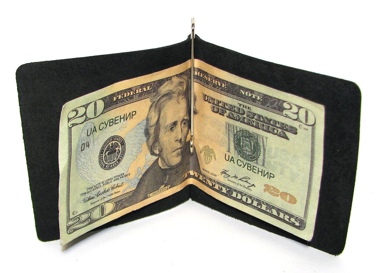 7e0266fec9fa Кожаный кошелек Зажим для денег натуральная кожа Черный: продажа ...
