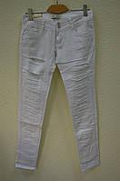 Белые женские  брюки ZG 7202