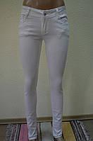Белые женские  брюки-13080-2(11)