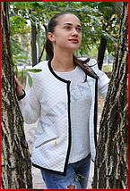 Куртка женская *Стёганка* ЦВЕТ БЕЛЫЙ, фото 3