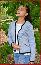 Куртка женская *Стёганка* ЦВЕТ СЕРЫЙ, фото 2