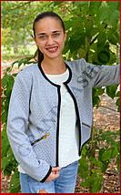 Куртка женская *Стёганка* ЦВЕТ СЕРЫЙ, фото 3