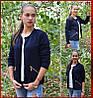 Куртка женская *Стёганка* ЦВЕТ ТЁМНО-СИНИЙ, фото 2