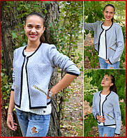 куртка женская *Стёганка* серый