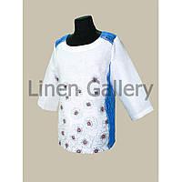 АКЦІЯ!!! Блуза Мачки біла з синіми маками
