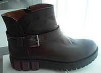 Ботинки женские стильные натуральная кожа коричневые