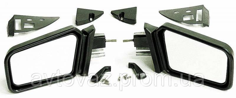Зеркало наружное ВАЗ 2108, ВАЗ 2109, ВАЗ 21099 с уголками и винтами антиблик, комплект
