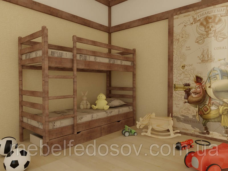 Кровать Соня двухъярусная 90 (Мебигранд/Mebigrand) 960х1980(2080)х1700мм