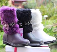 Зимние сапоги с мегом для девочки