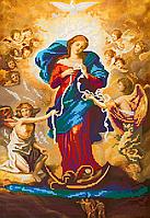 Схема для вышивки бисером Богородица развязывающая узлы, размер 24х35 см