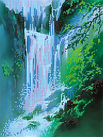 Схема для вышивки бисером Водопад, размер 21х28 см