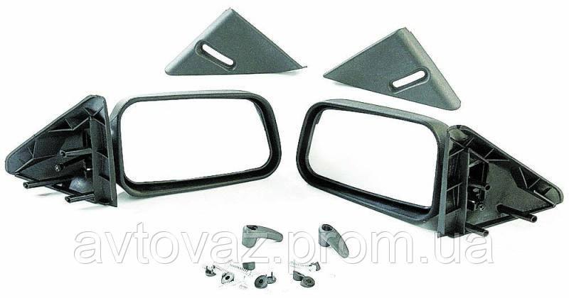 Зеркало наружное ВАЗ 2110, ВАЗ 2111, ВАЗ 2112 с уголками и винтами, комплект