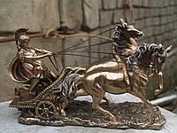 Статуэтка Veronese Римский Воин на колеснице 17 см 72011