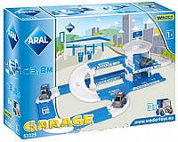 Гараж детский игрушечный ARAL с дорогой и заправкой