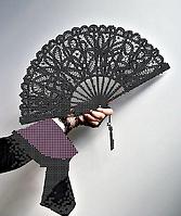 Схема для вышивки бисером Веер, размер 21х25 см
