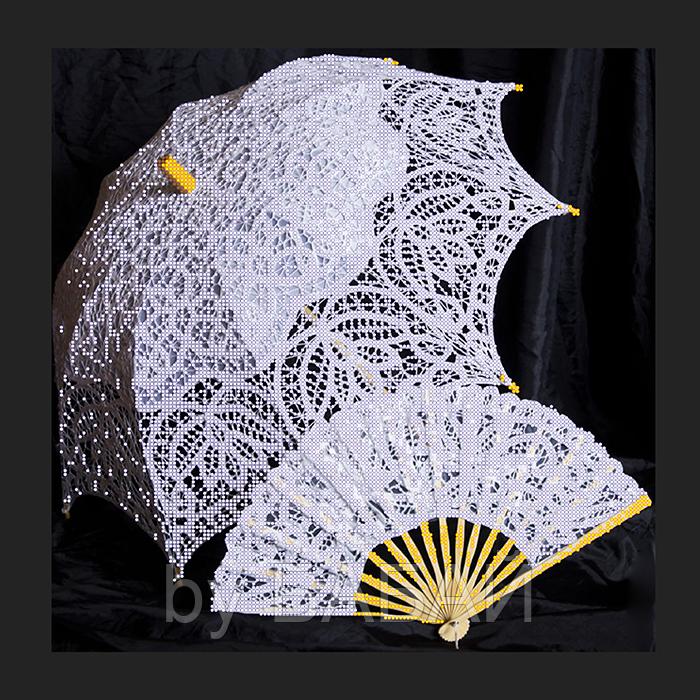 Схема для вышивки бисером Контрасты, размер 40х40 см