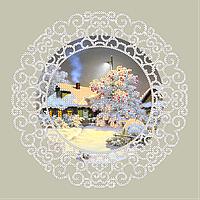 Схема для вышивки бисером Крещенские морозы, размер 22х22 см