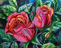 Схема для вышивки бисером Розовый куст, размер 20х30 см
