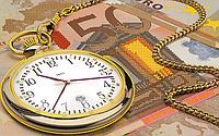 Схема для вышивки бисером Золотые часы, размер 27х17 см