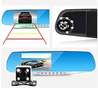 Автомобильный видеорегистратор-зеркало с камерой парковки