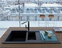 Гранитная кухонная мойка 2 чаши Franke Maris MRG 610-78 графит