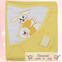 Детское полотенце для купания с варежкой и мылом Размер 70х 65 см (4746-3)