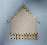 Заготовка Ключница с ажурной крышей малая 20х20,5 см