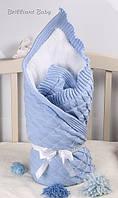 """Зимний конверт вязаный """"Мечта"""" для новорожденных от производителя"""