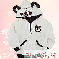 Курточка- Шубка из искусственного меха с капюшоном для мальчика от 2 до 5 лет (4715-3)