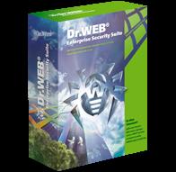 """Dr. Web: Комплект """"УНИВЕРСАЛЬНЫЙ"""" для малого бизнеса  10ПК + централизованное управление + 1 сервер + 10 почтовых ящиков/пользователей, на 12 месяцев"""
