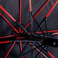 Стильный зонт с цветными мощными спицами