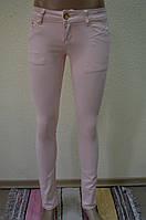 Розовые  женские  брюки RE-118