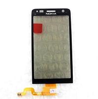 Тачскрин / сенсор (сенсорное стекло) для Nokia C6-01 (черный цвет)