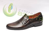 Модні шкіряні чоловічі туфлі 43