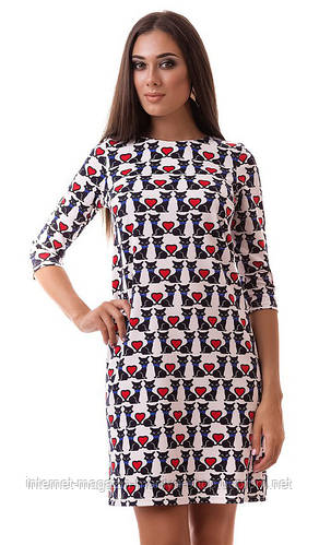 Платье женское коты