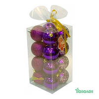 Яяя Ел. Набор НГ шаров пласт. JNP12-001-G Angel Gifts