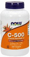 Витамин С-500 Аскорбат Кальция, Now Foods, Vitamin C-500, Calcium Ascorbate 250 caps