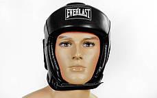 Шлем боксерский открытый черный PU EVERLAST BO-4492-BK, фото 2