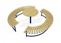 Скамейка Солнце со столиком VMVL011