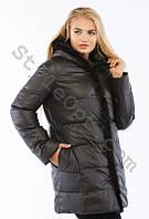 Женский зимний пуховик с натуральным мехом норки